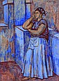 RAÚL ANGUIANO, Mujer descansando, Firmado y fechado, 1947,Gouache sobre papel, 64 x 48 cm, Raul Anguiano, Click for value