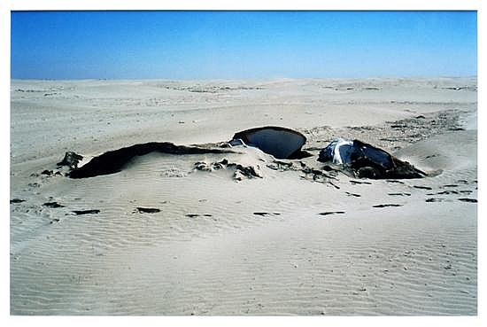 Gabriel Orozco, Whale in the san, 2006, Fuji crystal print edition 5 of 5, 15.8 x 19.9 inches.