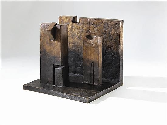 Fernando de Szyszlo, Ritual camera, bronze sculpture 5/6. 27.56 x 30.31 x 27.56 inches.