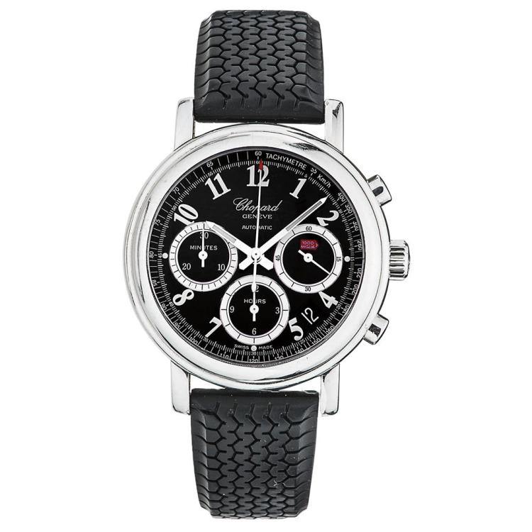 chopard mille miglia tachymetre wristwatch steel case and r. Black Bedroom Furniture Sets. Home Design Ideas