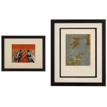 Lote de 2 obras gráficas. Consta de: Luis Filcer. Personajes. Serigrafía. Serie 64/150. Firmado. Enmarcado. Otra.