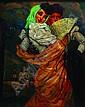 JOSE BARDASANO, Manolas, Firmado, eo sobre tela, 100 x 80 cm. Restaurado, José Bardasano Baos, Click for value