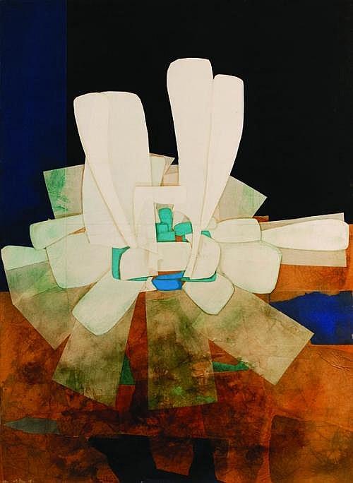 FITZIA, Pequeacie eternidad, Firmado y fechado, 1994 (dos veces), Collage sobre madera, 110 x 80 cm.