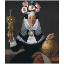 BENJAMÍN DOMÍNGUEZ , Monja coronada, Signed and dated 80, Oil on canvas, 80 x 70 cm / 31.4 x 27.5 inches.