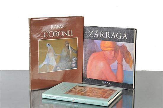 Tres libros de arte. a) CORONEL RIVERA, Juan.