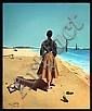JOSÉ MANUEL CAPULETTI, Dama en la playa, Firmado y fechado Paris 1953, Óleo sobre tela, 46 x 38 cm., José Manuel Capuletti, Click for value