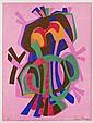 PEDRO CORONEL, Sin título, Firmada. Litografía P.A. 75 x 56 cm