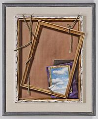 MANUEL D' RUGAMA, Página Artística, Firmada al frente. Firmada y fechada MCMXCI al reverso. Mixta sobre tela, 91 x 74 cm