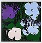 ANDY WARHOL, 11.64: Flowers, Con sello en la parte posterior