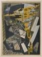 Jean Deyrolle. (N. Nogent-sur-Marne, Francia, 1911 - Toulon, Francia, 1967). Les Roques. Litografía, serie 28/45. Enmarcada, firmada.