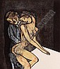 JOSÉ LUIS CUEVAS, Couple Signed, dated '98 Engraving 94/100/ 100, 30 x 25.7 cm., Jose Luis Cuevas, Click for value