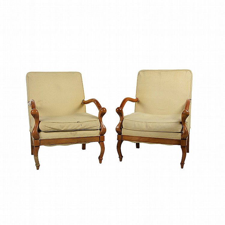 Par de sillones siglo xx estilo americano elaborados en m - Sillones con estilo ...