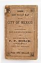 Hoeck, F. P. (Editor). Plano General de Indicación de la Ciudad de México.  México: Lit. C. Montauriol, 1890. En cubierta 1892.