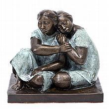 SALVADOR JARAMILLO, Sin título, Firmada y fechada 92. Escultura en bronce V / XV, 27 x 29 x 21 cm