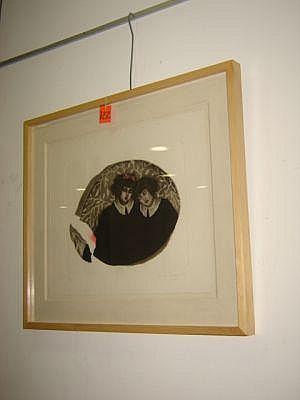 Lucía Maya. Sentimiento, 1990. Grabado 18/40. Dimensiones: 45 x 56 cm.