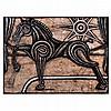 CARLOS LUNA, Sin título, Firmado. Gouache y carboncillo sobre papel amate, 120.5 x 165 cm, Con certificado., Carlos Luna, Click for value