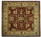 A HAND WOVEN SQUARE SHAPED OUSHAK RUG