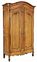 AN ANTIQUE LOUIS XV STYLE OAK ARMOIRE