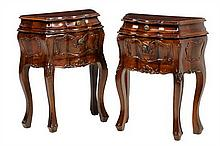 A PAIR OF ITALIAN BAROQUE STYLE BEDSIDE CABINETS