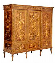 AN ITALIAN MAGGIOLINI STYLE MARQUETRY ARMOIRE