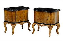 A PAIR OF VENETIAN ROCOCO STYLE BEDSIDE CABINETS