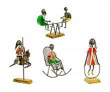 MANUEL FELGUEREZ, (Mexican, born 1938), A Group of Figures, Metal