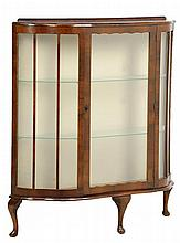 A QUEEN ANNE STYLE VITRINE CABINET