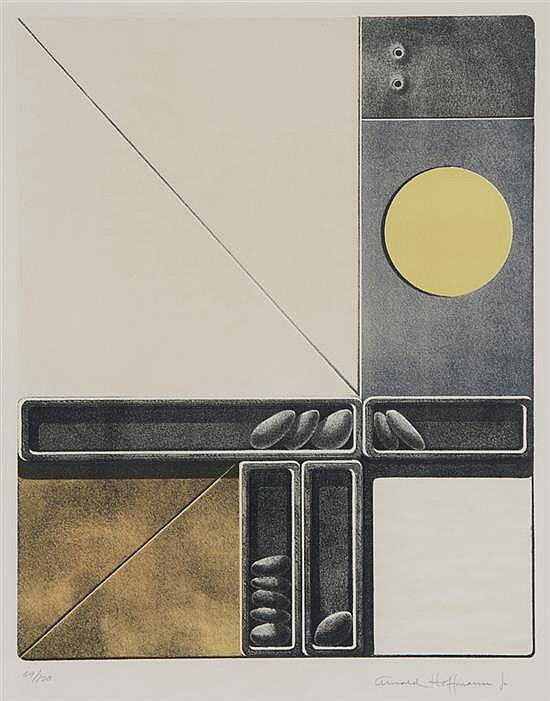 ARNOLD HOFFMAN, JR, (American, 1915-1991), Untitled, Lithograph, ed. 59/120, H 17 x W 13 inches.