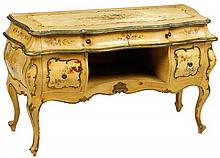 A VENETIAN ROCOCO STYLE PAINTED VANITY CHEST
