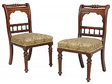 A PAIR OF RENAISSANCE REVIVAL SIDE CHAIRS