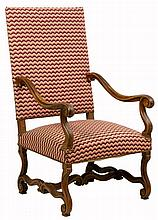 A FRENCH LOUIS XIV STYLE HALL CHAIR