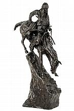 AFTER FREDERIC REMINGTON, (American, 1861-1909), The Mountain Man, Bronze, 210/700, H 27½ x W 10½ x D 18¾ inches.