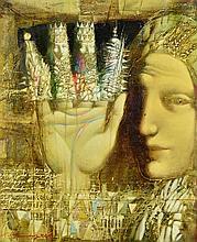 ARMEN GASPARYAN, (Armenian, born 1966), Marionette, Oil on canvas, H 24 x W 20 inches.