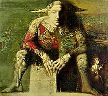 ARMEN GASPARYAN, (Armenian, born 1966), Harlequin, 2008, Oil on canvas, H 31¼ x W 35¼ inches.