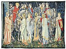 A BELGIAN WOOL TAPESTRY, AFTER WILLIAM MORRIS AND EDWARD BURNE JONES