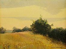 CARROLL COLLIER, (American, born 1923), Landscape, Oil on canvas, 12 x 16 inches