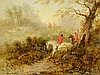 CHARLES DUDLEY, (United Kingdom, 19th/20th century), Hunting Scene, Oil on board, H 9 x W 12 inches., Charles Dudley, Click for value