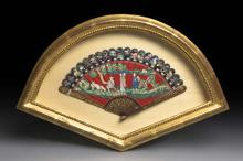 A VERY FINE CHINESE LACQUER BRISÉ FAN QING DYNASTY, 18TH-19TH CENTURY