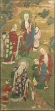 A DAOIST POLYCHROME PAINTING OF IMMORTALS, MING DYNASTY, 16TH-17TH CENTURY