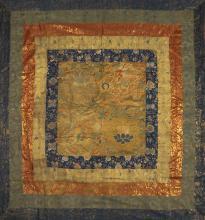 A RARE TIBETAN RITUAL LAMA'S CANOPY, 17TH AND 19TH CENTURY