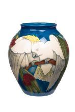 Moorcroft, 'Sulphur Crested Cockatoo' vase, circa. 1996
