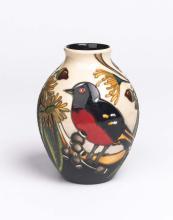Moorcroft, 'Scarlet Robin' vase, 2012