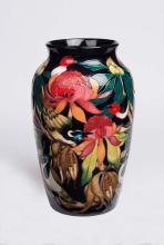 Moorcroft, a 'New World Waratah' vase, 2013