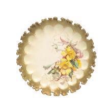 Doulton Burslem Louis Bilton, three Australian wild flower plates, late 19th century