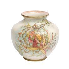 Doulton Burslem Louis Bilton Australian wild flowers vase, late 19th century