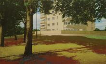 MASAKATSU KONDO (JAPANESE, BORN 1962) Council Estate, 2003 acrylic on canvas