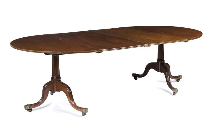 A George III Mahogany D End Extension Dining Table