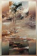 VOIGT, David John Granite and Rose Oil on canvas
