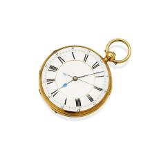 A Gentleman's gold openface pocket watch, John Adair, High Street, Dumphries, circa 1880's. 54mm. Key wind. Movement number 3033. Movement signed. Case engraved to reverse. 18ct yellow gold. Total weight 115.79 grams. Curvette inscribed