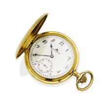 A Gentleman's gold hunter pocket watch, Deutsche Prazisionsuhr,